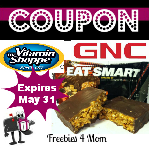 Free Eat Smart Protein Bar at GNC or Vitamin Shoppe