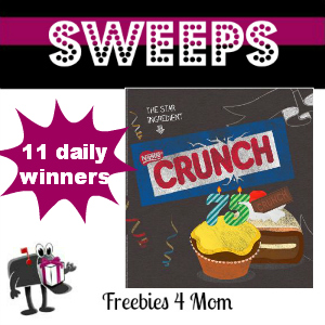 Sweeps Nestle Crunch 75th Birthday Showdown (11 Daily Winners)
