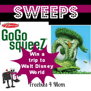 Sweeps Win a Disney Trip from GoGo squeeZ