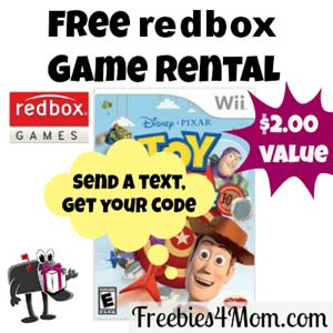 Free Redbox Game Rental ($2 value)