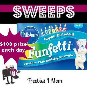 Sweeps Pillsbury Funfetti 25th Birthday Promotion (1 Daily Winner)