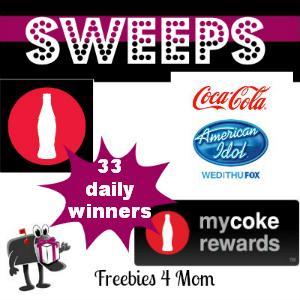 Sweeps My Coke Rewards American Idol (33 Daily Winners)