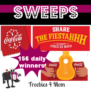 Sweeps Coca-Cola Share the Fiestahhh (156 Daily Winners)