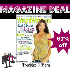 Deal $4.49 for Weight Watchers Magazine
