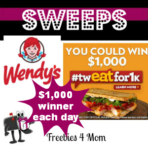 Sweeps Wendy's #twEATfor1k (1 Daily Winner)