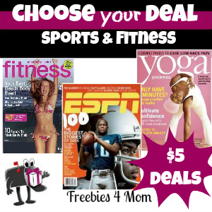 Deal $5 Sports & Fitness Magazines - You Choose!
