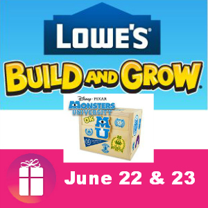 Free Kids Clinic at Lowe's June 22 & 23