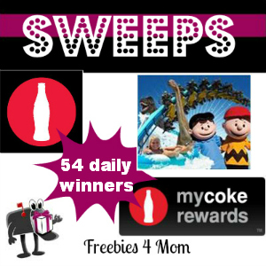 Sweeps My Coke Rewards Cedar Fair Amusement Park or Water Park Ticket Package (54 Daily Winners)