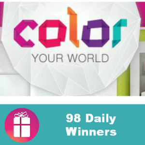 Sweeps 3M Color Your World (98 Daily Winners)
