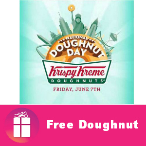 Free Doughnut at Krispy Kreme June 7