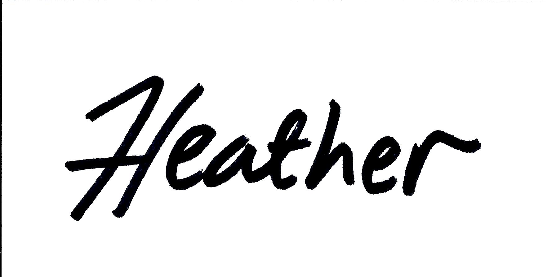 Heather Signed Name