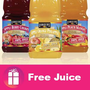 Freebie 4 bottles of Langers Juice