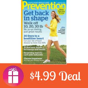 Deal $4.99 for Prevention Magazine