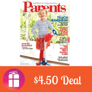 Deal $4.50 for Parents Magazine
