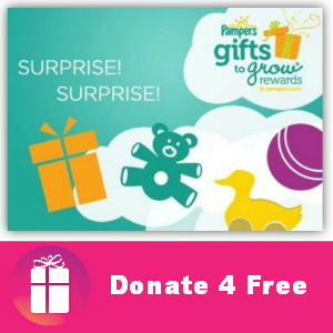 Donate4Free: Pampers Gifts to Grow Points