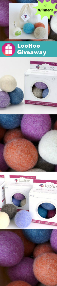 LooHoo Wool Dryer Balls Giveaway