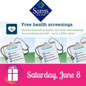 Free Health Screening at Sam's Club June 8