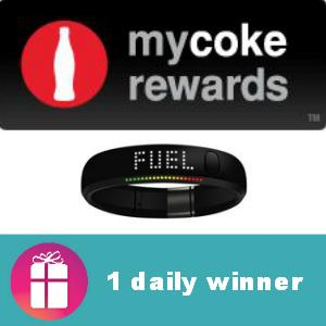 Sweeps My Coke Rewards Nike+ FuelBand