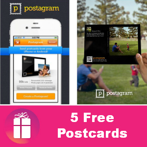 Free App: Postagram (5 Free Postcards)