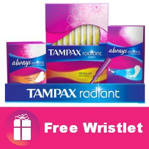 Freebie Tampax Radiant Wristlet