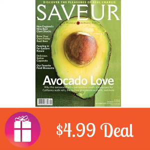 Deal $4.99 for Saveur Magazine