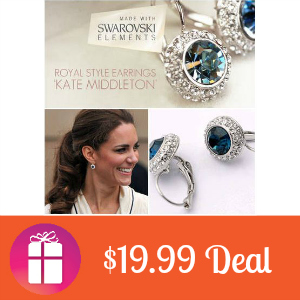 $19.99 Swarovski Silver Stud Earrings