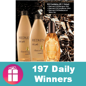 Sweeps Redken Diamond Oil Sampling