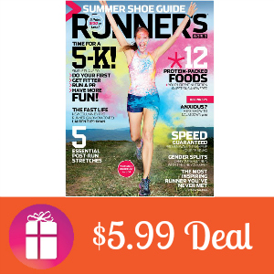 Deal $5.99 for Runner's World Magazine