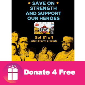 Donate 4 Free: Brawny Gives to Wounded Warrior Project