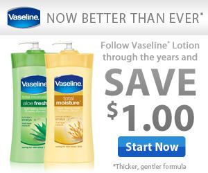 Save $1.00 on Vaseline Spray & Go