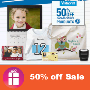 50% off 6 Vistaprint Products
