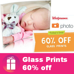 60% off Glass Prints at Walgreens