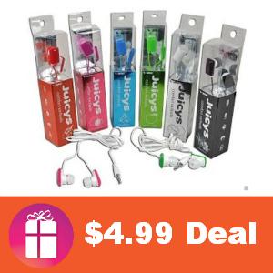 $4.99 2-Pack Vibe Juicys Earbud Headphones