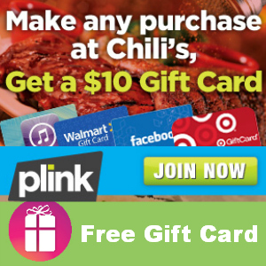 Free $10 Gift Card with ANY Chili's Purchase