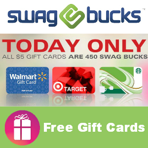 $5 Gift Cards are 450 Swagbucks Today