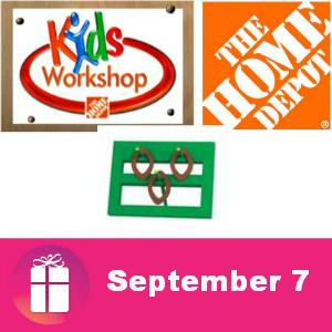 Free Kids Workshop at The Home Depot Sept. 7