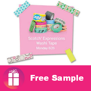 Freebie Scotch Expressions Washi Tape