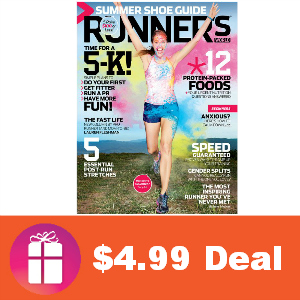 Deal $4.99 for Runner's World Magazine