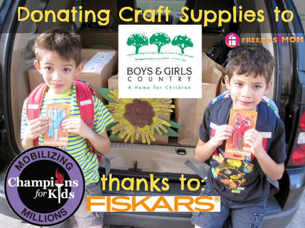 Donating Craft Supplies to Boys & Girls Country #Fiskars4Kids #cfk #cbias #shop