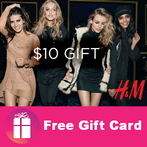 Free $10 H&M Gift Card on Wrapp