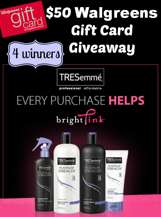 $50 TRESemme and Bright Pink Giveaway