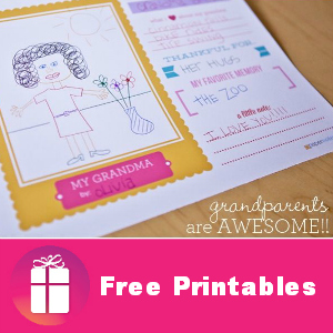 Free Grandparents Are Awesome Printables
