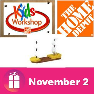 Free Kids Workshop at The Home Depot Nov. 2