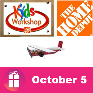 Free Kids Workshop at The Home Depot Oct. 5