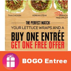 Coupon BOGO Free Entree at Pei Wei