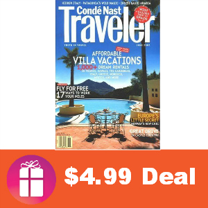 Deal $4.99 for Conde Nast Traveler