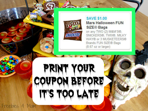 Save $1.00 on two Mars Fun Size bags #SpookyCelebration #cbias #shop