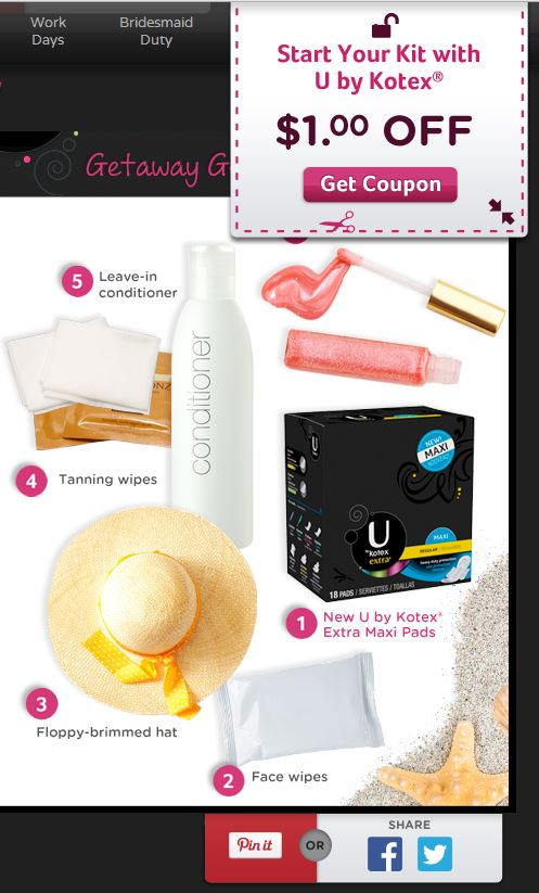 Kotex Coupon