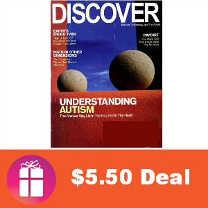 Deal $5.50 for Discover Magazine