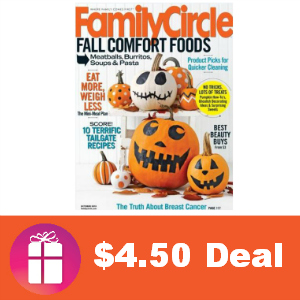Deal $4.50 for Family Circle